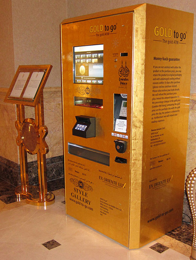 Gold Bar Vending Machine
