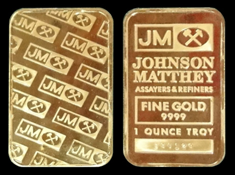 Johnson Matthey Gold Bar