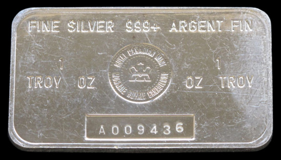 248 Royal Canadian Mint Silver Bars Silver Bullion Bars