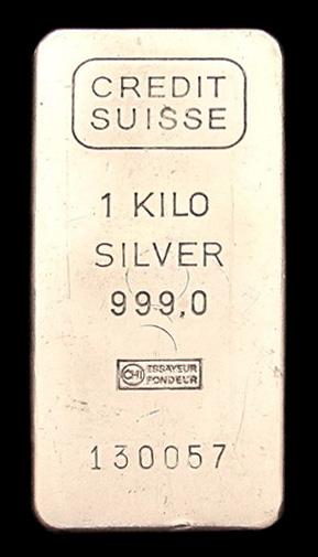 1 kilo Silver Bar