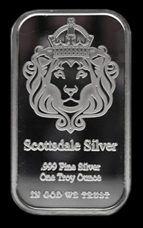 One Ounce Scottsdale Silver Bar