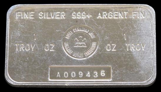 Royal Canadian Mint Silver Bar