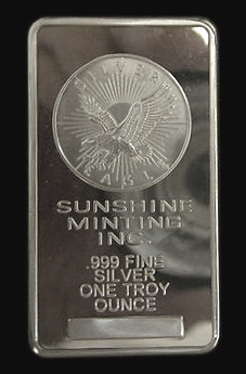 Sunshine Minting One Ounce Silver Bar